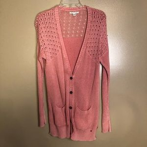 Pink Sweater Cartigan From American Eagle